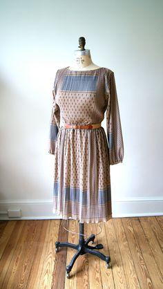 70s Boho Dress. Vintage Sheer Hippie Dress. Festival Dress. Small / Medium.