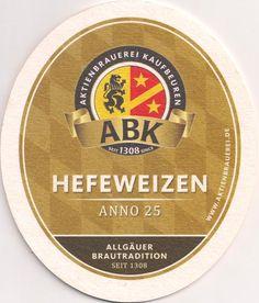 Rückseite: Bierdeckel-Europa-Mitteleuropa-Deutschland-Bayern-Schwaben-Kaufbeuren-Aktienbrauerei-Hefeweizen