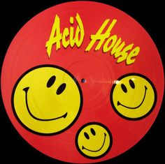 Acid house smiley music disc