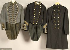 Augusta Auctions, September 2010 - Sturbridge, MA, Lot 170: Three Wool Military Jackets, 1860 & 1890
