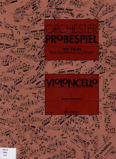JENISCH/SCHLOIFER. Violoncello test pieces for orchestral auditions. Orchester Probespiel. Schott.