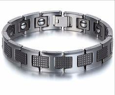 Black Stainless Steel Magnetic Bracelet - 1st Edition