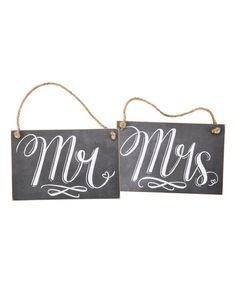Love this Mr. & Mrs. Chalk Wall Signs on #zulily! #zulilyfinds