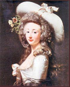 La Comtesse Marie-Françoise de Cluzel, par Henri Pierre Danloux