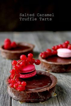 Bisous À Toi: Salted caramel truffle tarts - FINALLY!