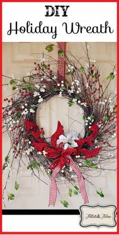 DIY Holiday Wreath {ONE Wreath for ALL Seasons}