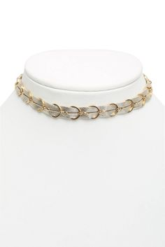 Ettika Leather & Chain Choker Necklace   South Moon Under