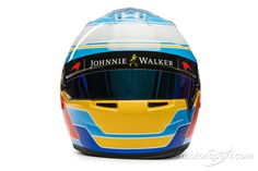 Fernando Alonso, McLaren at 2017 drivers helmets High-Res Professional Motorsports Photography Fernando Alonso Mclaren, F1 2017, F1 Drivers, Helmet, Photography, Photograph, Hockey Helmet, Fotografie, Helmets