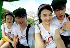 """When Red Velvet's Joy and BTOB's Sungjae appeared on """"We Got Married"""" fans were absolutely convinced they were actually in love. Sungjae And Joy, Sungjae Btob, Yongin, We Get Married, Red Velvet Joy, Asian Love, Ulzzang Couple, Daesung, Kpop"""