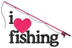 I Love Fishing/Pole embroidery design