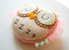 Shhhh... She is sleeping... Eco Friendly Plush Owl Toy.