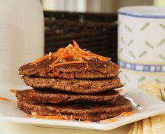 Paleo carrot pancakes. Mmmm I imagine these tasting kinda like carrot cake. I'll let ya know. : )