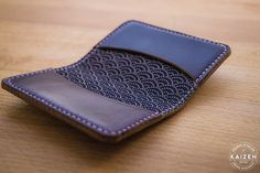 Horween Chromexcel No8 Japanese Wave Fabric Lined by KaizenLeather