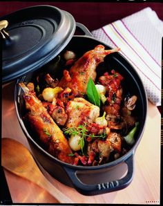 Discover recipes, home ideas, style inspiration and other ideas to try. Cuisine Diverse, Rabbit Food, Chicken Wing Recipes, My Best Recipe, French Food, Kung Pao Chicken, Chicken Wings, Poultry, Main Dishes