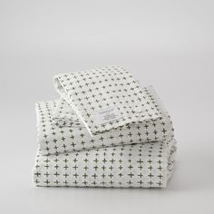 Schoolhouse Electric Imperfect Plus Sheet Set. Pattern by Ashley G
