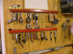 Awesome air tool hanging rack! What's on your walls? Neat storage ideas! - Page 2 - The Garage Journal Board