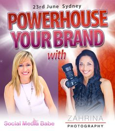✩✩ Powerhouse Your Brand ✩✩  Floundering to work out how to use #onlinemarketing or need an update to your #brand presence because you're driving customers away with your dull & boring untouched website?? Then don't miss this event - you go home with manuals full of do it yourself content! Great Value for $97 ✩   http://socialmediababe.com/powerhouse-your-brand-event ✩ Sponsored gifts to be given away too!