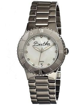 Bertha Millicent Mother-of-pearl Bracelet Watch.