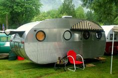 1952 Airstream Camper... and love the awnings:)