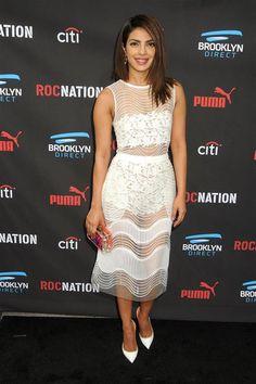 Priyanka Chopra style - sheer white dress - 'Quantico' star Priyanka Chopra's chic style