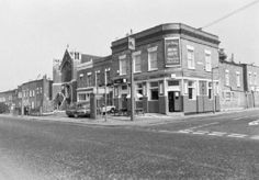 """Prince Albert 119 Consort Road Peckham South East London England in 1982.  Now Peckham Bazaar a shop. Also known as the Shergar.   Renamed as the """"Shergar"""" in 1981, and as """"Spotted Frog"""" in c1998. Later a delicatessen, now a restaurant."""
