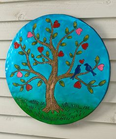Another great find on #zulily! Lighted Tree of Love Recycled Oil Drum Lid Wall Art #zulilyfinds