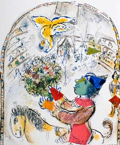 Marc Chagall - Between Surrealism & NeoPrimitivism - Le Cirque, Paris 1967 Marc Chagall, Folklore Russe, Chagall Paintings, Jewish Art, Animal Tattoos, Pablo Picasso, Animal Design, Les Oeuvres, Illustrators