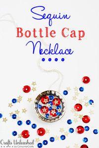 Sequin Bottle Cap Necklace