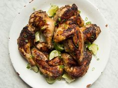Jamaican Jerk Chicken | This jerk chicken recipe is from Paul Chung, who grew up in Jamaica and sampled jerk throughout the island. It's fragrant, fiery hot and smoky all at once.