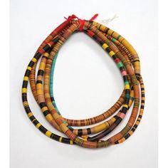 Collier tour de taille africain en lamelles de bakélite
