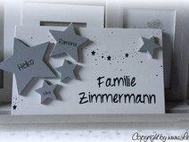 Türschild Namensschild Familie