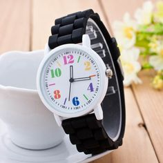 Creative 2015 Newest Watch Women Silicone Band Simple Design Motion Quartz Watches Candy Color Casual Sport Watch