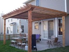 Simple Pergola Attached to House 2