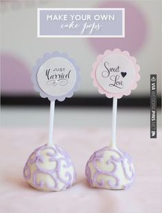 diy cake pops | CHECK OUT MORE IDEAS AT WEDDINGPINS.NET | #diyweddings