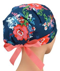 Womens Surgical Scrub Hat Adjustable Medium to Large with Ribbon Ties (Chic) Scrub Hat Patterns, Hat Patterns To Sew, Sewing Patterns, Womens Scrubs, Surgical Caps, Scrub Caps, Fashion Face Mask, Hats For Women, Perfect Fit