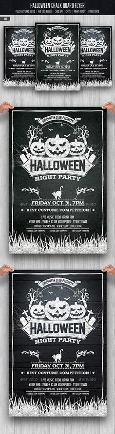 Halloween Chalkboard Flyer - Download…