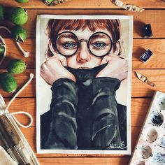 552 отметок «Нравится», 18 комментариев — Виктория Шилина (@shilinaviktory) в Instagram: «В перерывах между рисованием я ... рисую • по мотивам известной фотокарточки, на которой…»