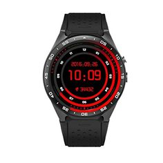 KW88 Bluetooth Smart Watch SANNYSIS Android 5.1 Quad Core 4GB GPS WIFI For IOS (Black)   Features: Phone call,SMS,Caller ID display,WIFI,GPS,Heart Rate,OS online upgrade,Info bluetooth sync English,French,Germa