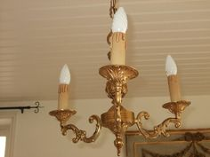 Vintage French  3 branch chandelier. Paris by FrenchlyMoments, $185.00