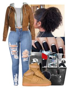 """"" by jazzy-love1164 ❤ liked on Polyvore featuring Nike air force, Glamorous and Wet Seal"