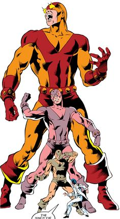Goliath - Marvel comics - Avengers enemy - Erik Josten. From our notes at http://www.writeups.org/fiche.php?id=639 .