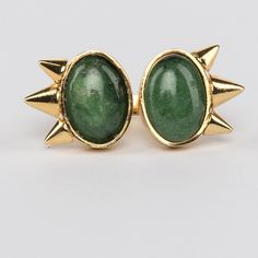 // Vergara Collection - Jade Eyes Ring - DANIELA SALCEDO Jade Eyes, Ring Designs, Gemstone Rings, Gemstones, Collection, Shoes, Jewelry, Zapatos, Jewlery