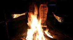 Salmon on open fire. Open Fires, Salmon, Outdoor Decor, Kitchen, Home Decor, Cooking, Decoration Home, Room Decor, Atlantic Salmon