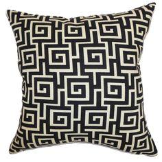 Warder Geometric Pillow Black Creme