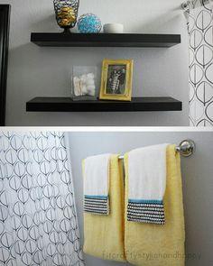 Gray Yellow Bathroom For Kids