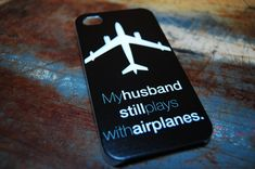 Awesome Case for Pilot Wives and Airplane Mechanics - Black Color Pilot Wife Case For Iphone 5s 5 4s 4 by iCandy Products, $8.99