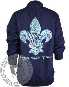 Kappa Kappa Gamma Fleur Half Zip