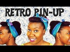 Retro Pin-Up Natural Hair Tutorial | Eve used the You-Be Natural products to blow out her hair and achieve this quick retro pin up. (video)