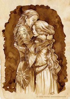 Galadriel and Celebrain, mother and daughter, saying Namarië...