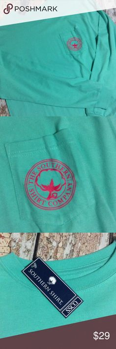 New! The Southern Company Shirt. Cute!! NWT Long sleeve southern company shirt. Never been worn! 100% cotton. The Southern Company Tops